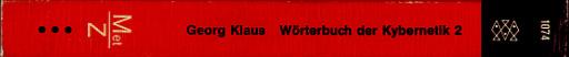 Wörterbuch der Kybernetik 1: Met-Z